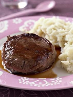 pavé de rumsteck de bœuf cuisiné