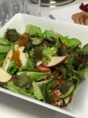 Salade mêlé avec 3 fromages