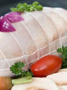 Rôti de poulet  Farcie