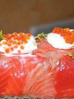 Buchette au saumon /perles Marines