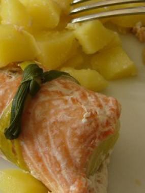 Paupiette de saumon sauce hollandaise