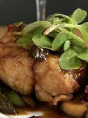 Ris de veau mitonnée et sa sauce à la duxelle de cèpes