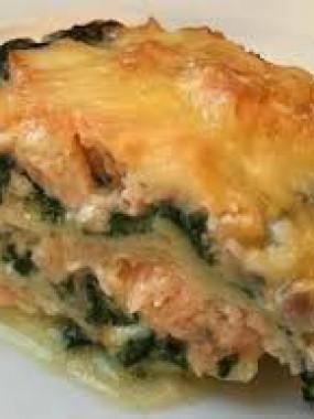 lasagnes aux saumons/épinard